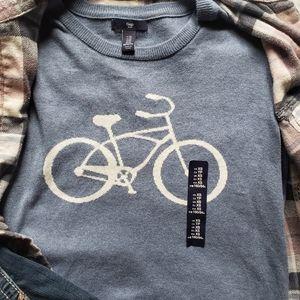 NWT Gap Sweater Xs Vintage Bicycle